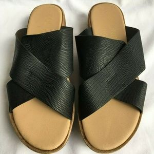 Coconuts By Matisse Black Manmade Soles Sandals 7M